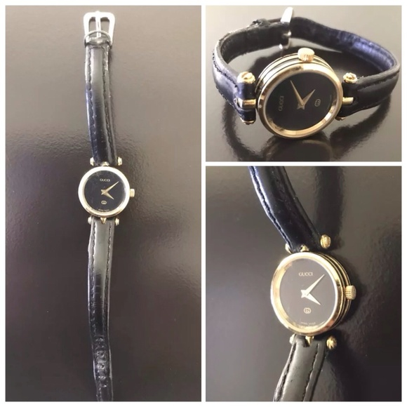a92921a1f GUCCI Accessories | Auth Vintage Black Tone Womens Watch | Poshmark